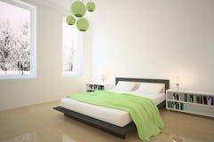 зеленый цвет спальни иллюстрация вектора