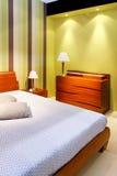 зеленый цвет спальни Стоковая Фотография