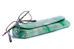 зеленый цвет стекел случая Стоковая Фотография