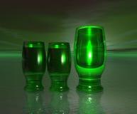 зеленый цвет стекел Стоковое Изображение RF