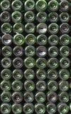 зеленый цвет стекла бутылок много wine Стоковое Изображение RF