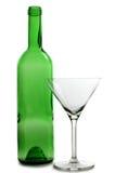 зеленый цвет стекла бутылок спирта Стоковые Фотографии RF