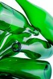 зеленый цвет стекла бутылок Стоковая Фотография RF