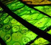 зеленый цвет стекла холодного сплавливания Стоковое фото RF