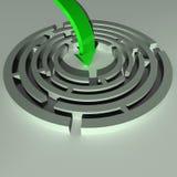 зеленый цвет стрелки иллюстрация штока