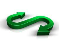 зеленый цвет стрелок 3d Стоковые Фотографии RF