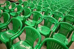 зеленый цвет стулов Стоковая Фотография RF