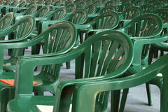 зеленый цвет стулов Стоковое Изображение RF