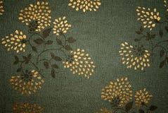 зеленый цвет ткани флористический Стоковое Изображение
