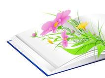 зеленый цвет травы цветков книги открытый Бесплатная Иллюстрация