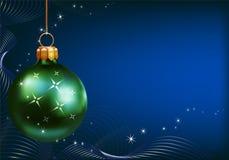 зеленый цвет украшений рождества шарика Стоковое фото RF