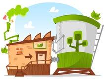 зеленый цвет фабрики Стоковая Фотография RF