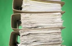 зеленый цвет финансов документов предпосылки Стоковая Фотография