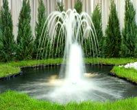 зеленый цвет фонтана Стоковая Фотография RF