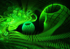 зеленый цвет фрактали Стоковая Фотография