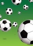 зеленый цвет футбола Стоковое Изображение