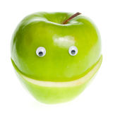 зеленый цвет характера яблока Стоковые Фото