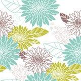 зеленый цвет цветка предпосылки голубой безшовный Стоковые Фото