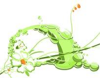 зеленый цвет цветка Иллюстрация вектора