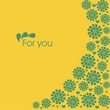 зеленый цвет цветков Стоковое Изображение