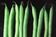 зеленый цвет черноты фасолей предпосылки Стоковое фото RF