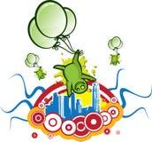 зеленый цвет чужеземцев Стоковое Фото
