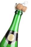 зеленый цвет шампанского бутылки Стоковые Фото