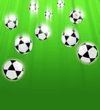 зеленый цвет шариков предпосылки Стоковое Изображение