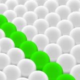 зеленый цвет шариков Стоковые Изображения