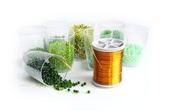 зеленый цвет шариков стоковая фотография rf
