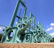 зеленый цвет шестерен Стоковая Фотография RF