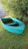 зеленый цвет шлюпки Стоковые Фотографии RF