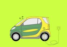 зеленый цвет экологичности автомобиля Стоковая Фотография RF