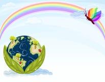 зеленый цвет экологичности земли Стоковые Фотографии RF