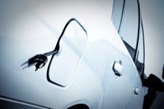 зеленый цвет электрической энергии автомобиля Стоковая Фотография RF