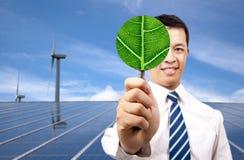 зеленый цвет энергии принципиальной схемы дела Стоковая Фотография
