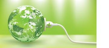 зеленый цвет энергии принципиальной схемы иллюстрация штока