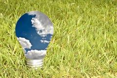 зеленый цвет энергии принципиальной схемы Стоковое фото RF