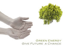 зеленый цвет энергии принципиальной схемы Стоковые Изображения RF