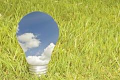 зеленый цвет энергии принципиальной схемы Стоковое Изображение