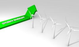 зеленый цвет энергии принципиальной схемы Стоковое Изображение RF