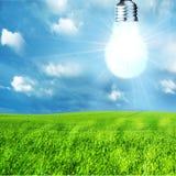 зеленый цвет энергии принципиальной схемы Стоковая Фотография