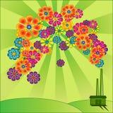 зеленый цвет энергии иллюстрация штока