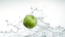зеленый цвет яблока свежий Стоковая Фотография RF
