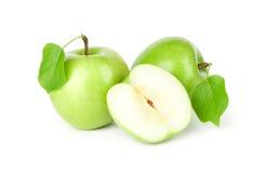 зеленый цвет яблок выходит 3 Стоковое фото RF