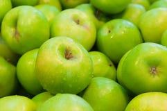 зеленый цвет яблок свежий стоковые изображения rf