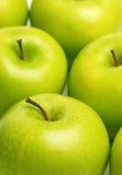 зеленый цвет яблок свежий Стоковая Фотография