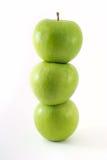 зеленый цвет яблок свежий Стоковое Фото