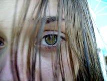 зеленый цвет 2 глаз Стоковые Фотографии RF
