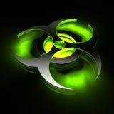 зеленый цвет biohazard иллюстрация штока